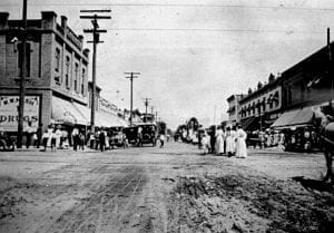 Downtown Covina CA in the late 1800's on what is now Citrus Ave.