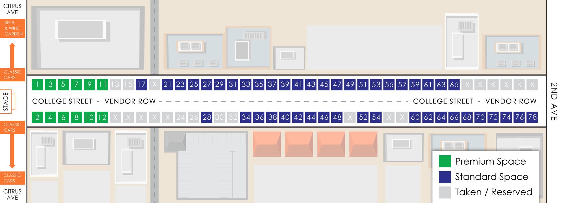 2018 Thunderfest Vendor Row Map