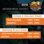 2018 Thunderfest: Outdoor Music Schedule